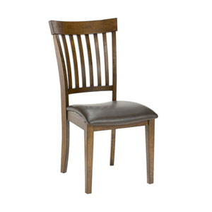 Afton Colonial Chestnut Mission Back Dining Chairs, Set of 2