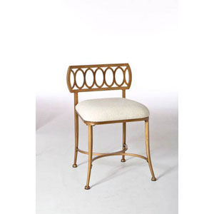 Evelyn Gold Bronze Street Vanity Stool
