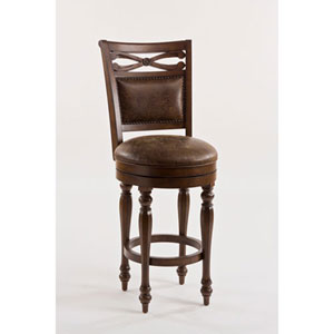Evelyn Weathered Walnut Counter Stool