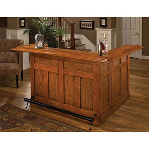 Wellington Classic Oak Large Bar with Side Bar