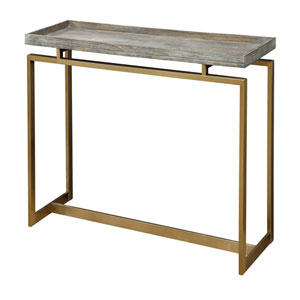 Evelyn Weathered Brown Console Table