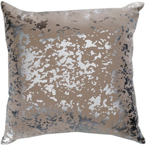 Monroe Khaki and Silver 20 In. Throw Pillow