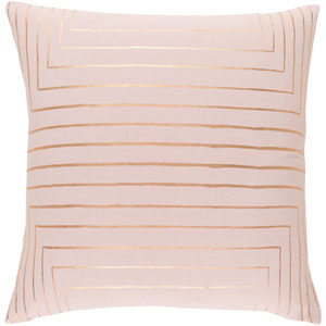 Monroe Blush and Gold 20 In. Throw Pillow