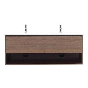 Uptown Restored Khaki Wood 63-Inch Vanity Combo