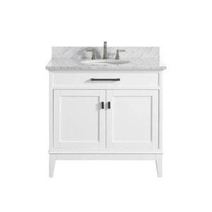 Whittier White 37-Inch Vanity Combo