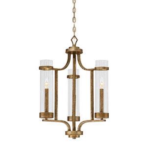 Whittier Antique Gold Three-Light Chandelier