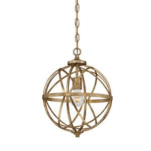 Afton Antique Gold One-Light Globe Pendant