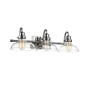 Afton Chrome Three-Light Bath Vanity