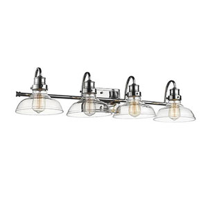 Afton Chrome Four-Light Bath Vanity
