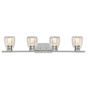 Kenwood Satin Nickel Four-Light Bath Vanity