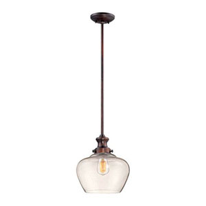 Isles Rubbed Bronze One-Light Pendant