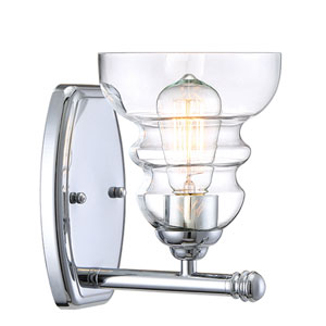 Isles Chrome One-Light Bath Sconce
