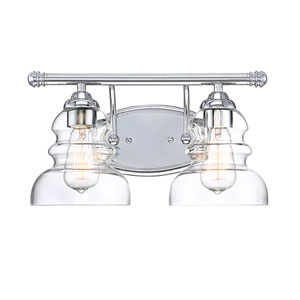 Isles Chrome Two-Light Bath Vanity