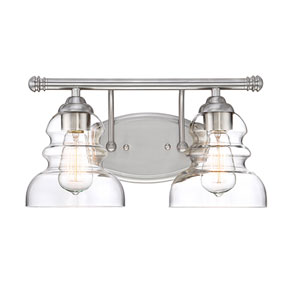 Isles Satin Nickel Two-Light Bath Vanity