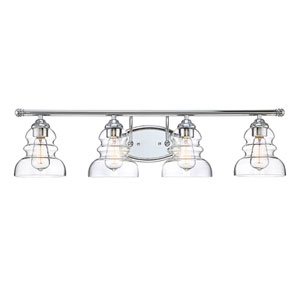 Isles Chrome Four-Light Bath Vanity