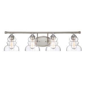Isles Satin Nickel Four-Light Bath Vanity