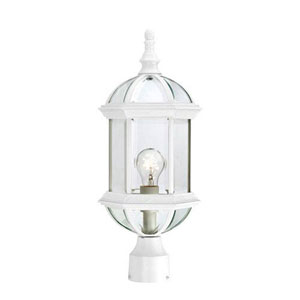 Webster White One-Light Outdoor Post Mount