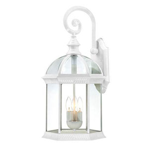 Webster White Three-Light Outdoor Wall Sconce