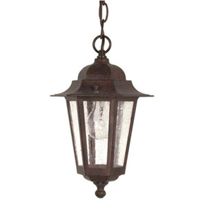 Evelyn Old Bronze One-Light Outdoor Pendant
