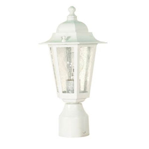 Evelyn White One-Light Outdoor Post Mount