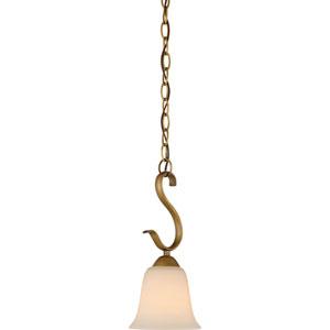 Evelyn Natural Brass One-Light Mini Pendant