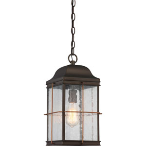 Afton Bronze and Copper One-Light Outdoor Pendant