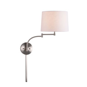Kenwood Brushed Steel One-Light Swing Arm Wall Sconce