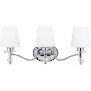 Evelyn Polished Chrome Three-Light Bath Vanity