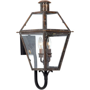 Webster Aged Copper 24-Inch Two-Light Outdoor Wall Sconce
