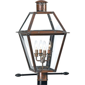 Webster Aged Copper Four-Light Outdoor