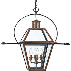 Webster Aged Copper Four-Light Outdoor Pendant