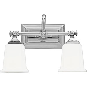 Grace Polished Chrome Two-Light Bath Vanity