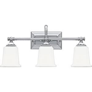 Grace Polished Chrome Three-Light Bath Vanity