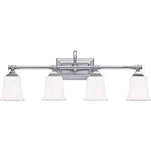 Grace Polished Chrome Four-Light Bath Vanity