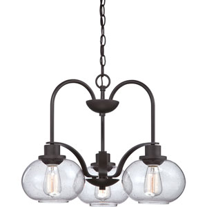 Afton Old Bronze Three-Light Chandelier