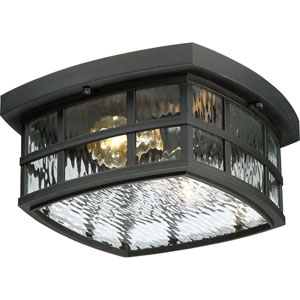 Hayden Black Two-Light Outdoor Flush Mount