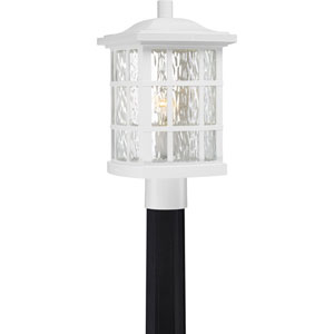 Grace White One-Light Outdoor Post Mount