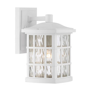 Grace White 11-Inch One-Light Outdoor Wall Sconce