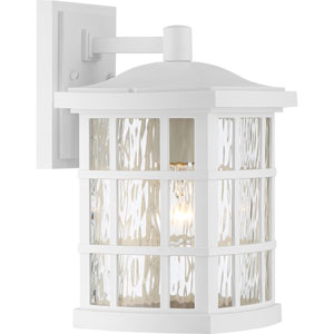 Grace White 13-Inch One-Light Outdoor Wall Sconce