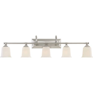Grace Brushed Nickel Five-Light Bath Vanity