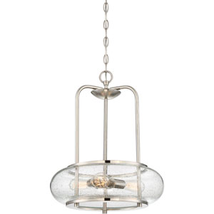 Afton Brushed Nickel Three-Light Pendant