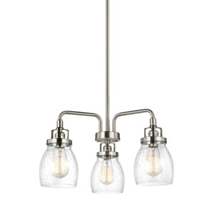 Afton Brushed Nickel Three-Light Chandelier