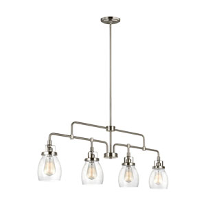 Afton Brushed Nickel Four-Light Linear Pendant