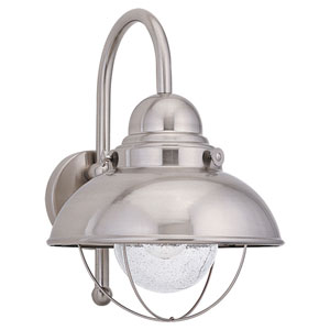 River Station Brushed Stainless 16-Inch One-Light Outdoor Wall Sconce