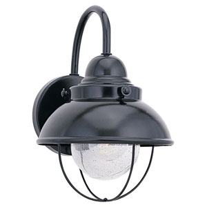 River Station Black 16-Inch One-Light Outdoor Wall Sconce