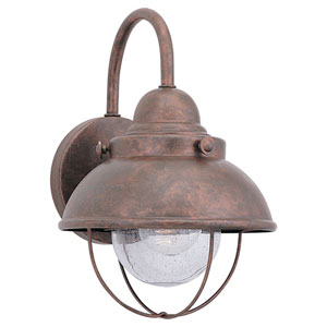 River Station Copper 11-Inch One-Light Outdoor Wall Sconce