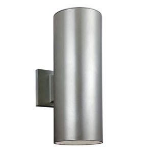 Nicollet Brushed Nickel 14-Inch Two-Light Outdoor Wall Sconce