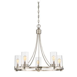 Whittier Brushed Nickel Five-Light Chandelier