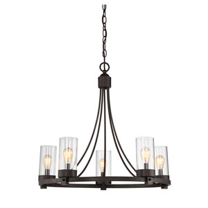 Whittier Oil Rubbed Bronze Five-Light Chandelier