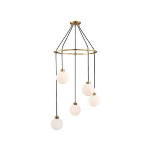 Nicollet Natural Brass Five-Light Pendant